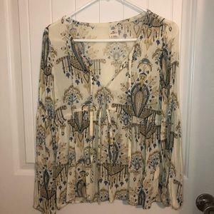 Long sleeve blouse